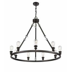 Saloon - 40 Inch 31.5W 9 LED Chandelier