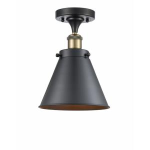 Appalachian-1 Light Semi-Flush Mount in Industrial Style-7 Inches Wide by 9.5 Inches High