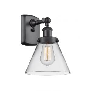 Large Cone-3.5W 1 LED Wall Sconce in Industrial Style-8 Inches Wide by 13 Inches High