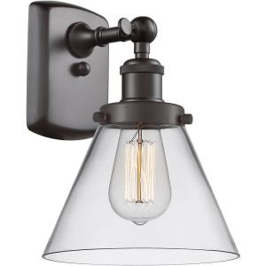 Large Cone - 1 Light Wall Sconce