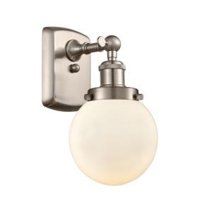 Beacon-1 Light Wall Sconce in Modern Contempo Style-6 Inches Wide by 11 Inches High