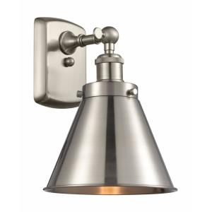 Appalachian-1 Light Wall Sconce in Industrial Style-7 Inches Wide by 10.5 Inches High