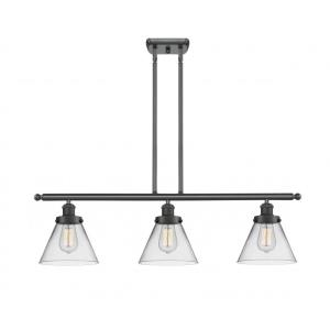 Large Cone-10.5W 3 LED Island in Industrial Style-36 Inches Wide by 11 Inches High