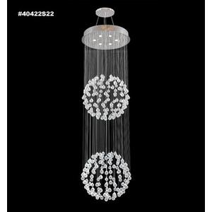 Impact Crystal Rain - Six Light Chandelier