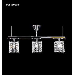 Broadway - Three Light Linear Pendant - Square Shades