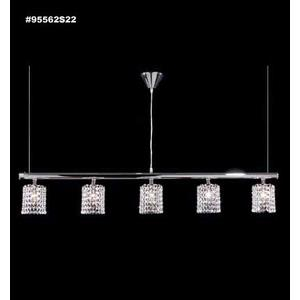 Broadway - Five Light Linear Pendant - Round Shades