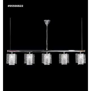 "Broadway - Five Light Linear Pendant - ""X"" Shades"