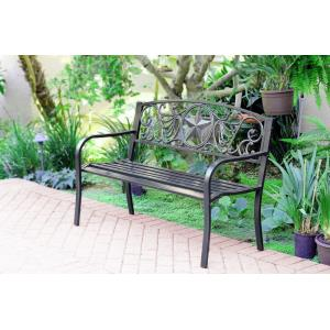 "50"" Star Curved Back Park Bench"