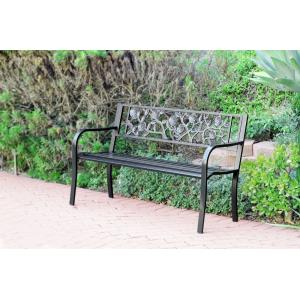 """50"""" Flowers Curved BackPark Bench"""