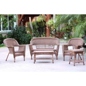 "51"" 5 Piece Conversation Set without Cushion"