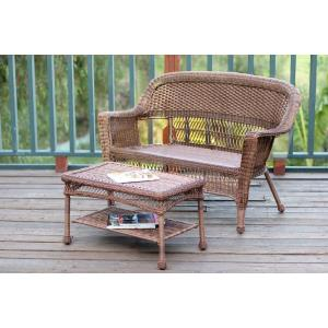 "51"" Patio Love Seat and Coffee Table Set without Cushion"