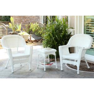"""36"""" 3 Piece Chair and End Table Set without Cushion"""