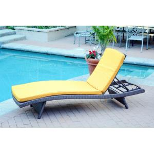 """80"""" Adjustable Chaise Lounger with Cushion (Set of 2)"""