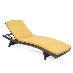 """80"""" Adjustable Chaise Lounger with Cushion"""