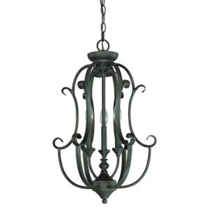 Barret Place - Three Light Chandelier - 16 inches wide by 24 inches high