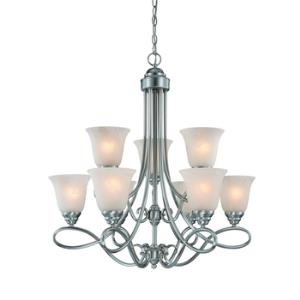 Cordova - Nine Light Chandelier - 29 inches wide by 30 inches high