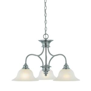 Linden Lane - Three Light Down Chandelier - 25.75 inches wide by 17 inches high