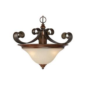 Seville - Three Light Convertible Semi-Flush Mount