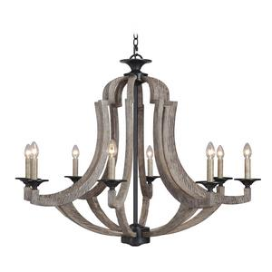 Winton - Eight Light Chandelier - 36 inches wide by 34.5 inches high