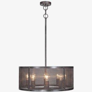 Blacksmith - Eight Light Pendant - 24.9 inches wide by 56.6 inches high