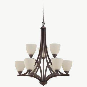 Almeda - Nine Light Chandelier - 30 inches wide by 35 inches high