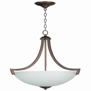 Almeda - Three Light Inverted Pendant - 20.38 inches wide by 26 inches high