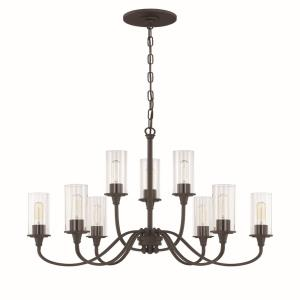 Modina - Nine Light Chandelier - 30 inches wide by 24 inches high