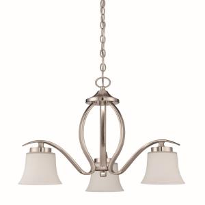 Northlake - Three Light Chandelier - 22 inches wide by 20 inches high