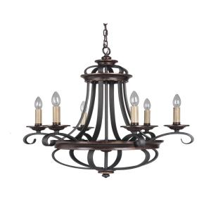 Stafford - Six Light Chandelier - 26 inches wide by 28.25 inches high