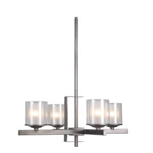Mod - Four Light Chandelier - 22 inches wide by 17.5 inches high