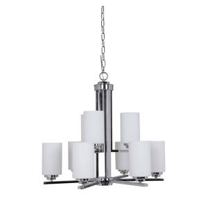 Albany - Nine Light Chandelier - 27.5 inches wide by 23 inches high