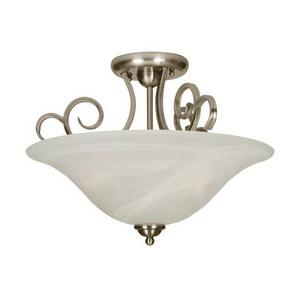 Cecilia - Three Light Semi-Flush Mount