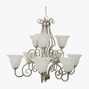 Cecilia - Nine Light Chandelier - 32 inches wide by 29 inches high