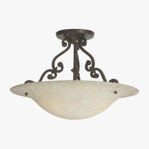 Toscana - Two Light Semi-Flush Mount