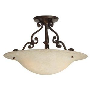 Toscana - Three Light Semi-Flush Mount
