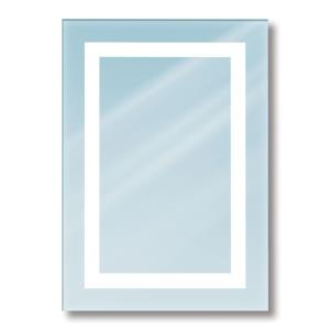 Envisage - Four Light Rectangular Back-lit Mirror with Rectangular Cutouts