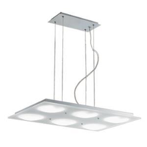 Lumidisque - Six Light Rectangular Adjustable Pendant