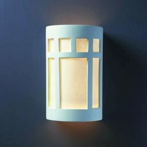 Ambiance - Large ADA Prairie Window Open Top and Bottom Wall Sconce