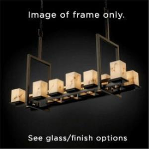 Alabaster Rocks! - Montana 12-Up and 5-Downlight Bridge Tall Chandelier