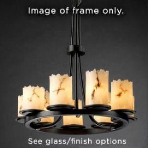 Wire Glass - Dakota 9-Light Ring Chandelier