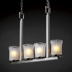 Wire Glass - Dakota 4-Light Bar Chandelier