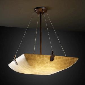 Porcelina - Eight Light Bowl Pendant with U-Clip