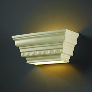 Ambiance - Rectangular Dentil Molding with Glass Shelf Wall Sconce