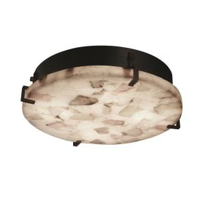 "Alabaster Rocks! - Clips 16"" Round Wall and Ceiling Mount"