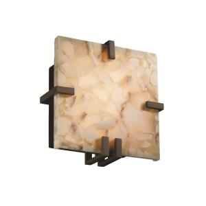 Alabaster Rocks! - Clips 1-Light Square Wall Sconce (ADA)