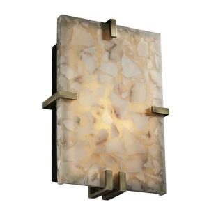 Alabaster Rocks! - Clips 2-Light Rectangle Wall Sconce (ADA)