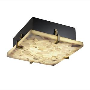 "Alabaster Rocks! - Clips 2-Light 12"" Square Wall and Ceiling Mount"