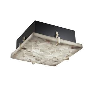 Alabaster Rocks! - Clips 2-Light 12 Inch Square Wall and Ceiling Mount