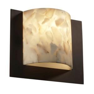 Alabaster Rocks! - Framed 1-Light Square 3-Sided Wall Sconce (ADA)