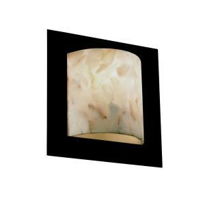 Alabaster Rocks! - Framed 1-Light Square 4-Sided Wall Sconce (ADA)